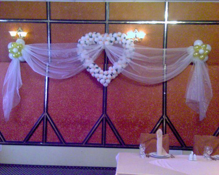Украшение зала на свадьбу своими